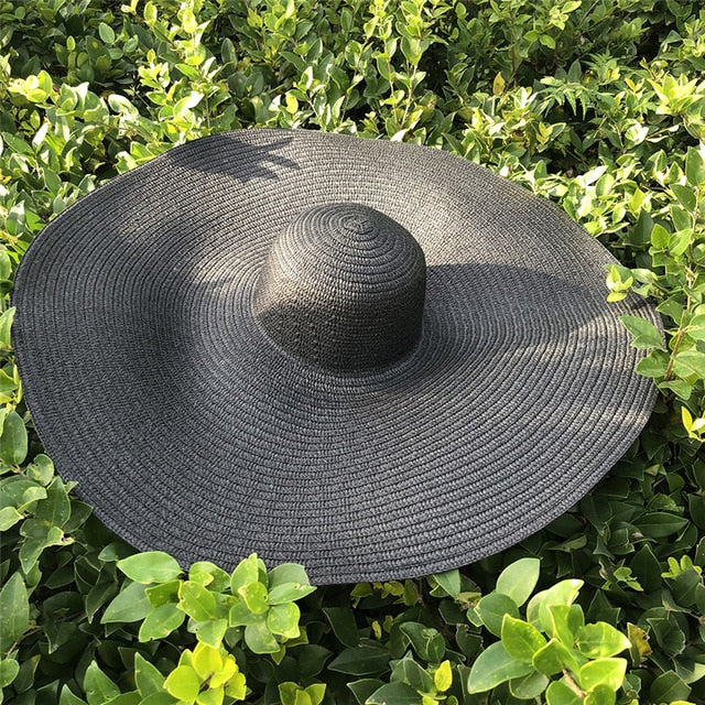 25CM Wide Brim Oversized Beach Hat
