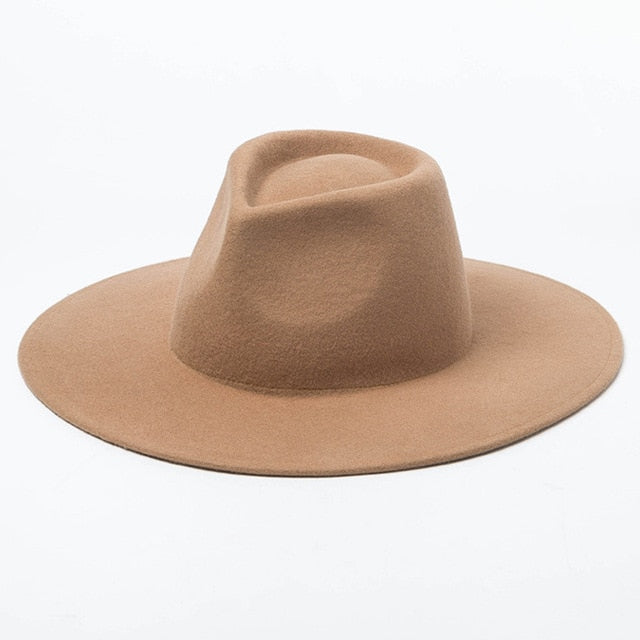 Women's Wide Brim Wool Fedora