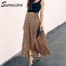 Load image into Gallery viewer, Polka Dot Print Long Maxi Skirt