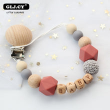 Load image into Gallery viewer, Personalized Handmade Silicone Pacifier Chains