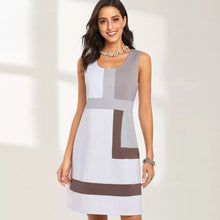 Load image into Gallery viewer, Geometric Print Shift Dress