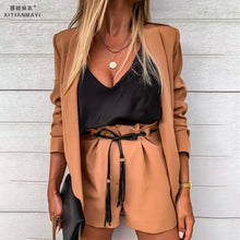 Load image into Gallery viewer, Women's Blazer Jacket Suit Set