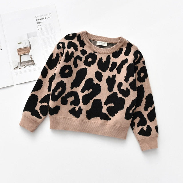 Kids & Baby Leopard Knitted Pullover