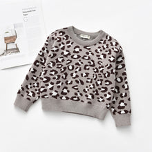 Load image into Gallery viewer, Kids & Baby Leopard Knitted Pullover