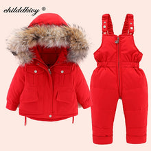 Load image into Gallery viewer, 2pcs Baby Girl Winter Jacket and Jumpsuit