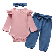 Load image into Gallery viewer, 3Pcs Newborn Baby Girl Clothes Set