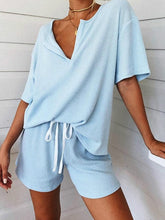 Load image into Gallery viewer, Two-Piece Lounge Pajama Set