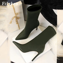Load image into Gallery viewer, Pointed Toe Elastic Ankle Heels