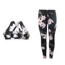 Load image into Gallery viewer, Yoga Sportswear Floral Print Set