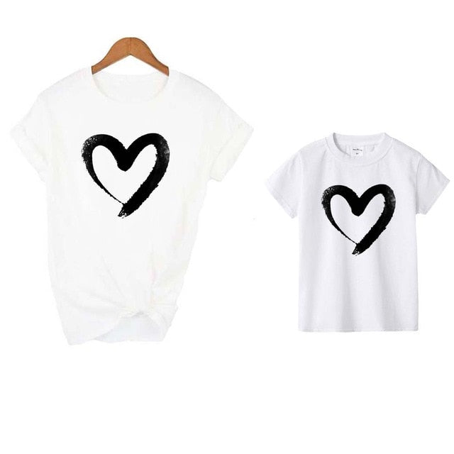 Hearts Mommy and Me Shirts