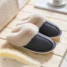 Load image into Gallery viewer, Luxury Faux Suede Fur Slippers