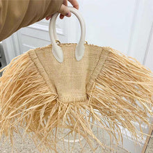 Load image into Gallery viewer, Tassel Straw Fringed Beach Bag