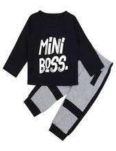 Load image into Gallery viewer, Baby Boy Long Sleeve Mini Boss Outfit