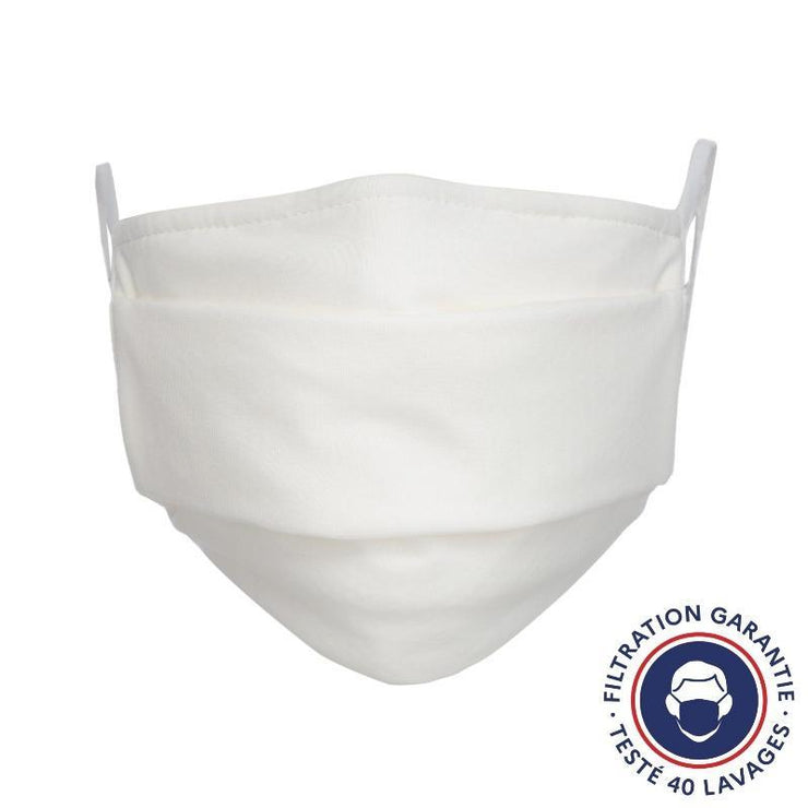 Lot de 100 masques lavables blancs - Grand public UNS 1