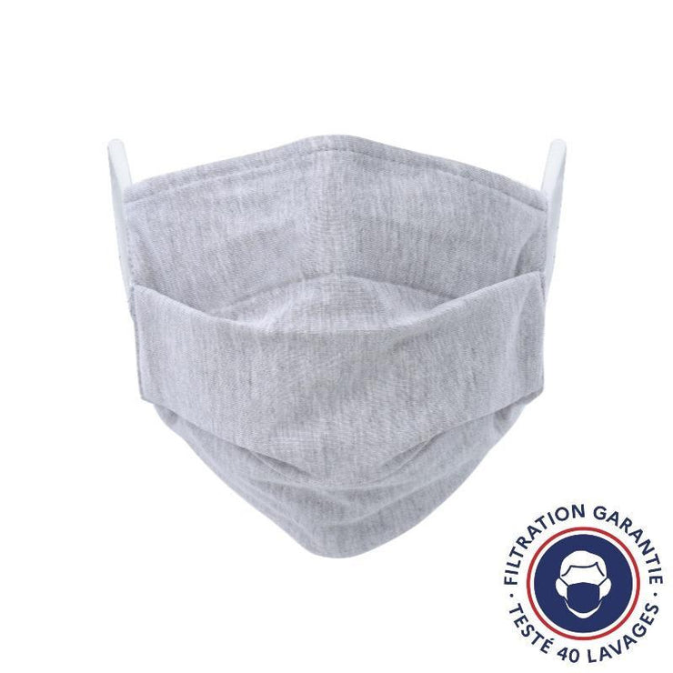 Lot de 10 masques lavables gris - Grand public UNS 1