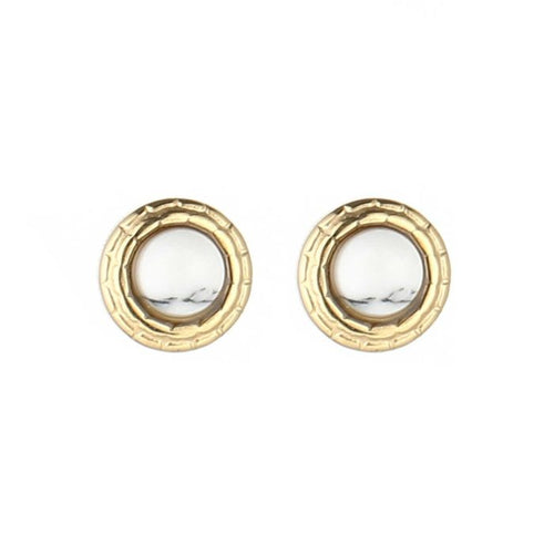 White studs earrings - Acazia