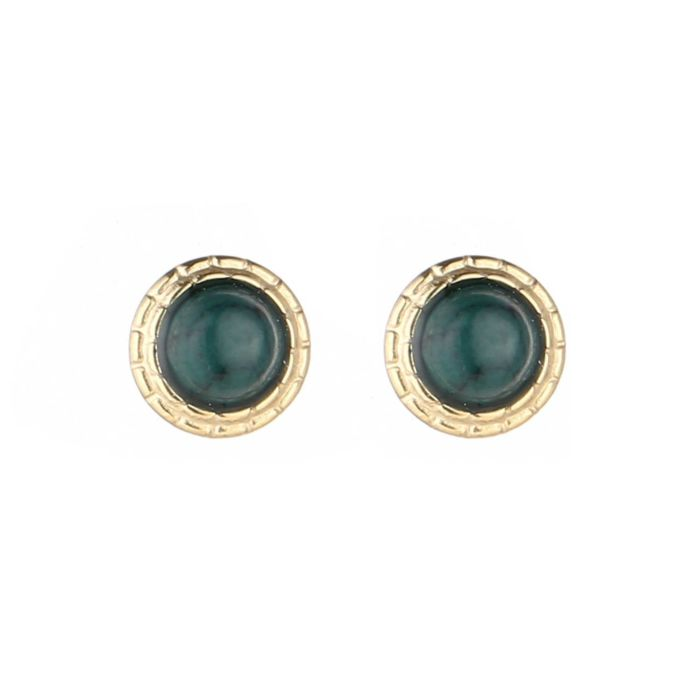 Green studs earrings - Acazia