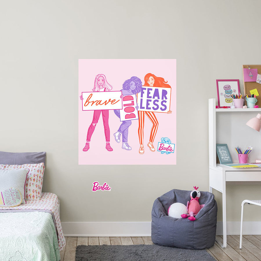 BARBIE BRAVE BOLD FEARLESS MURAL