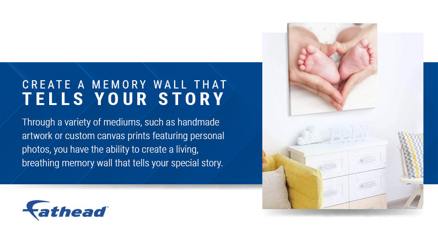 create a memory wall that tells your story