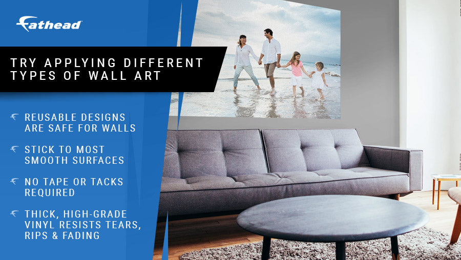 try applying different types of wall art