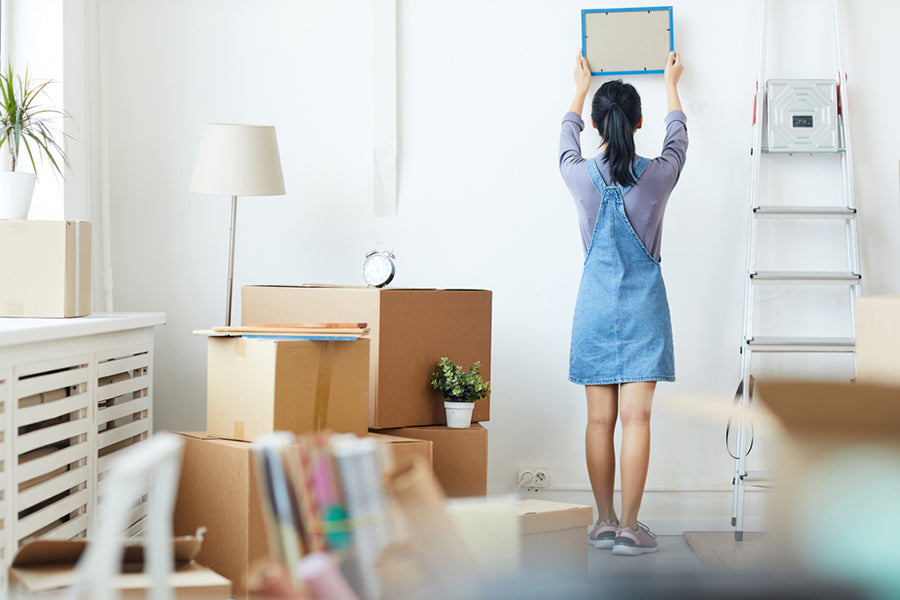 woman decorating new home