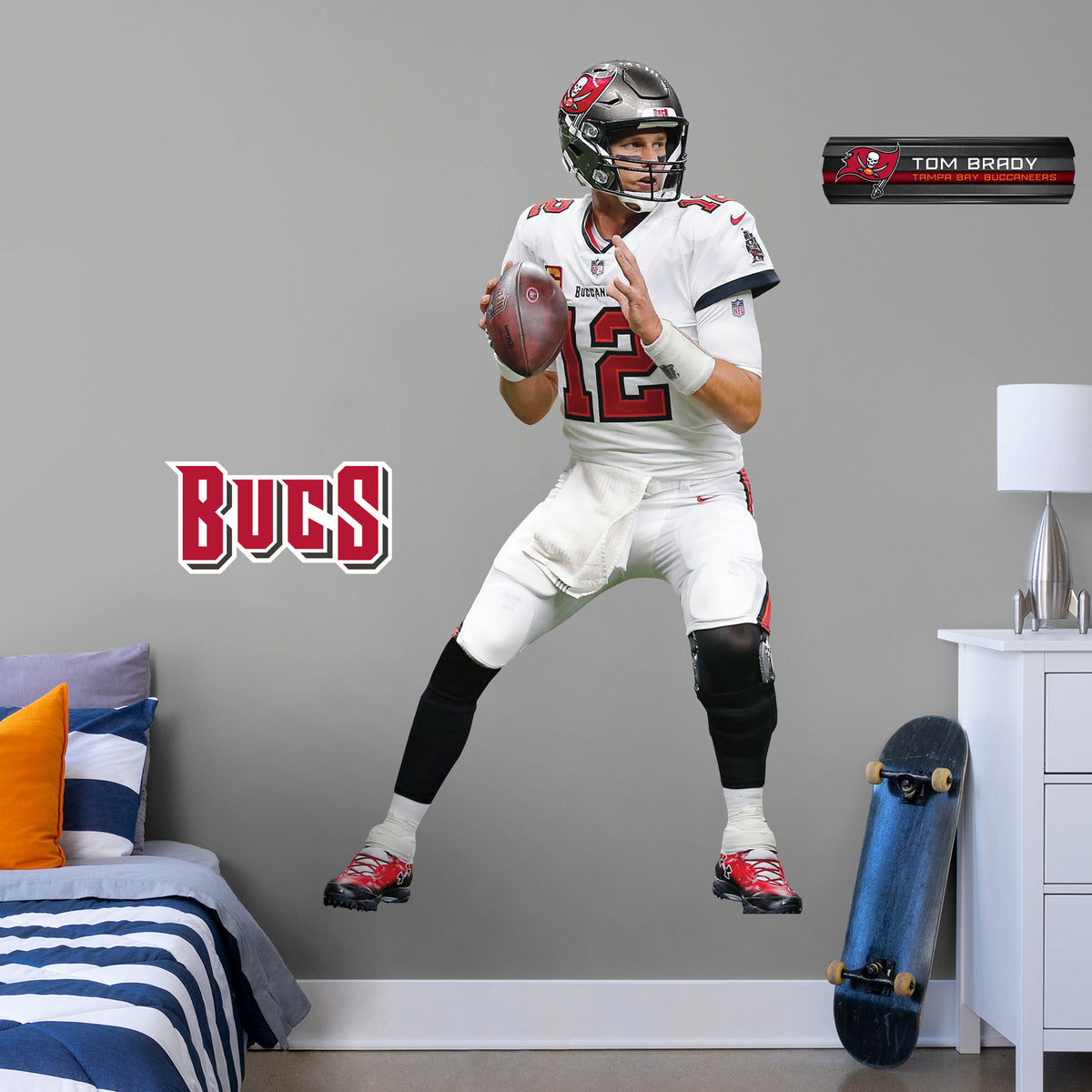 Tom Brady Officially Licensed Nfl Removable Wall Decal