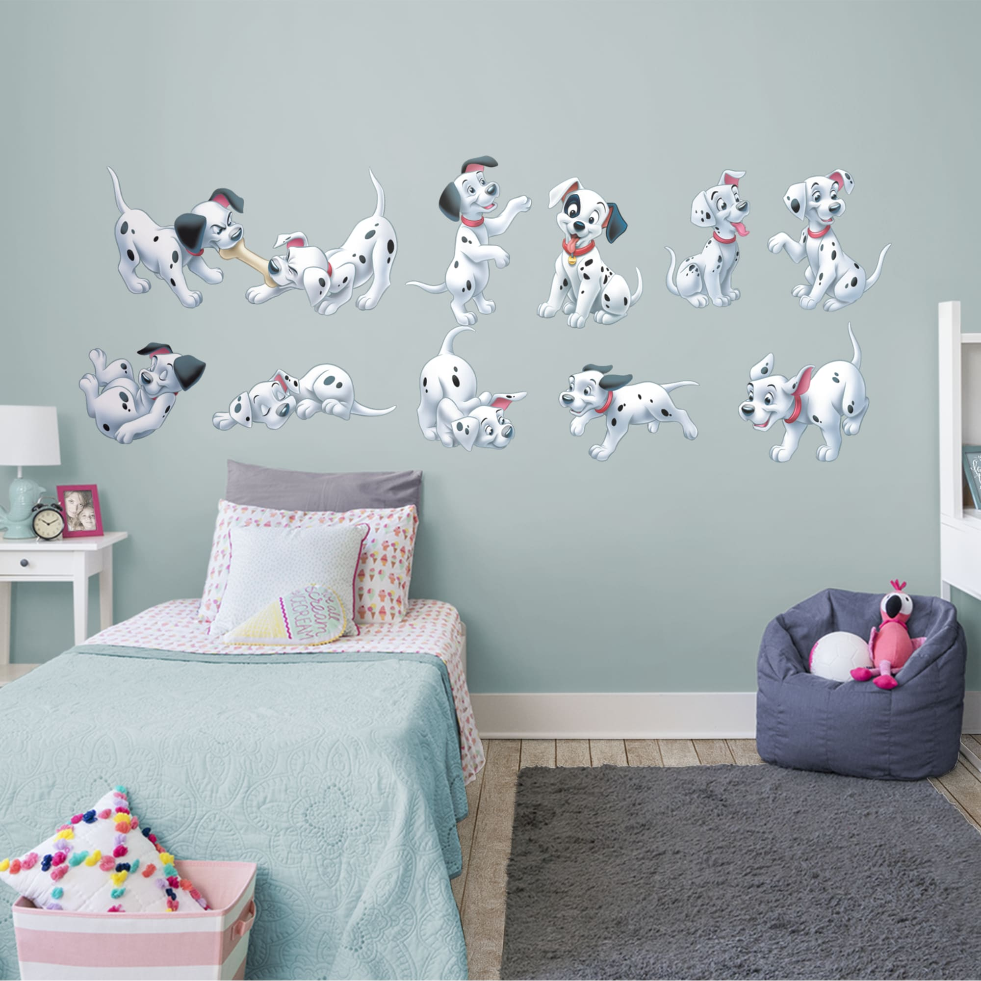 """101 Dalmatians: Puppy Collection - Officially Licensed Disney Removable Wall Decals 80.0""""W x 53.0""""H by Fathead   Vinyl"""