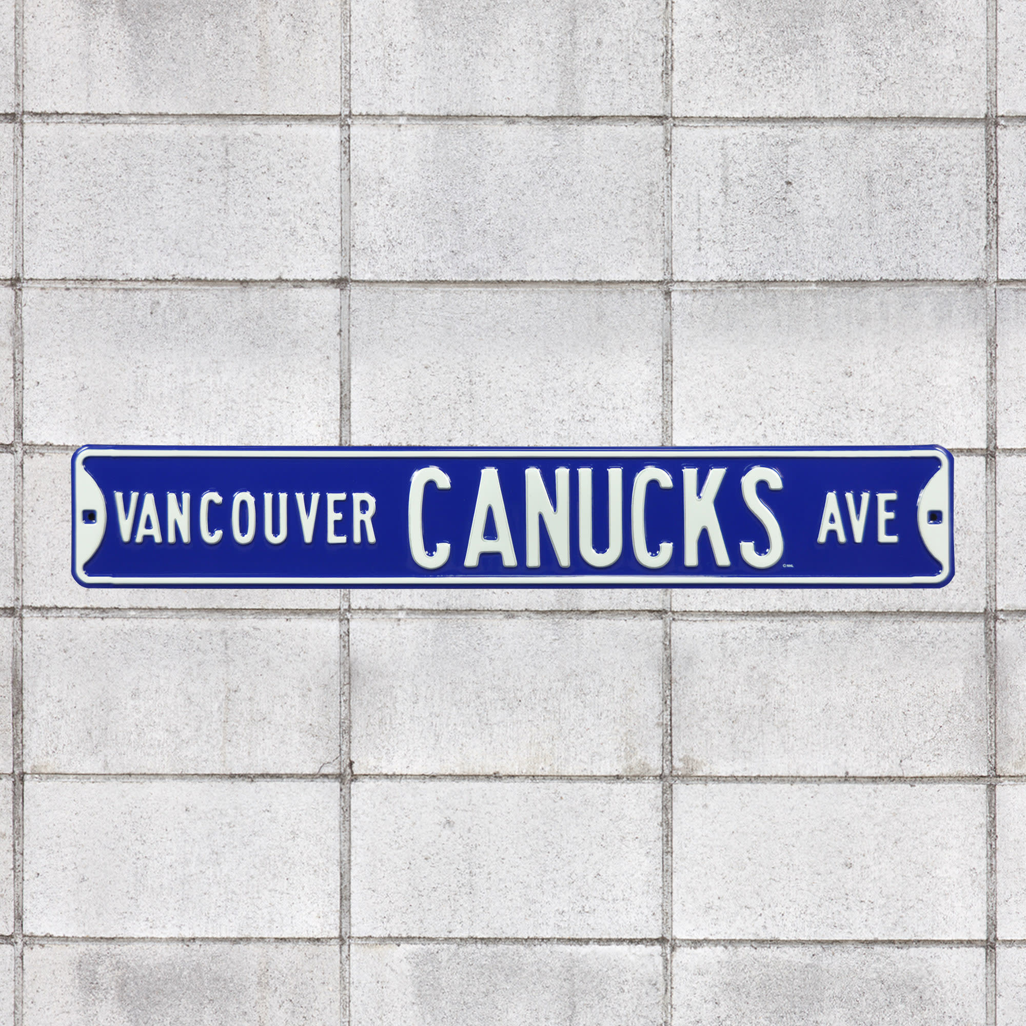 """Vancouver Canucks: Vancouver Canucks Avenue - Officially Licensed NHL Metal Street Sign 36.0""""W x 6.0""""H by Fathead 