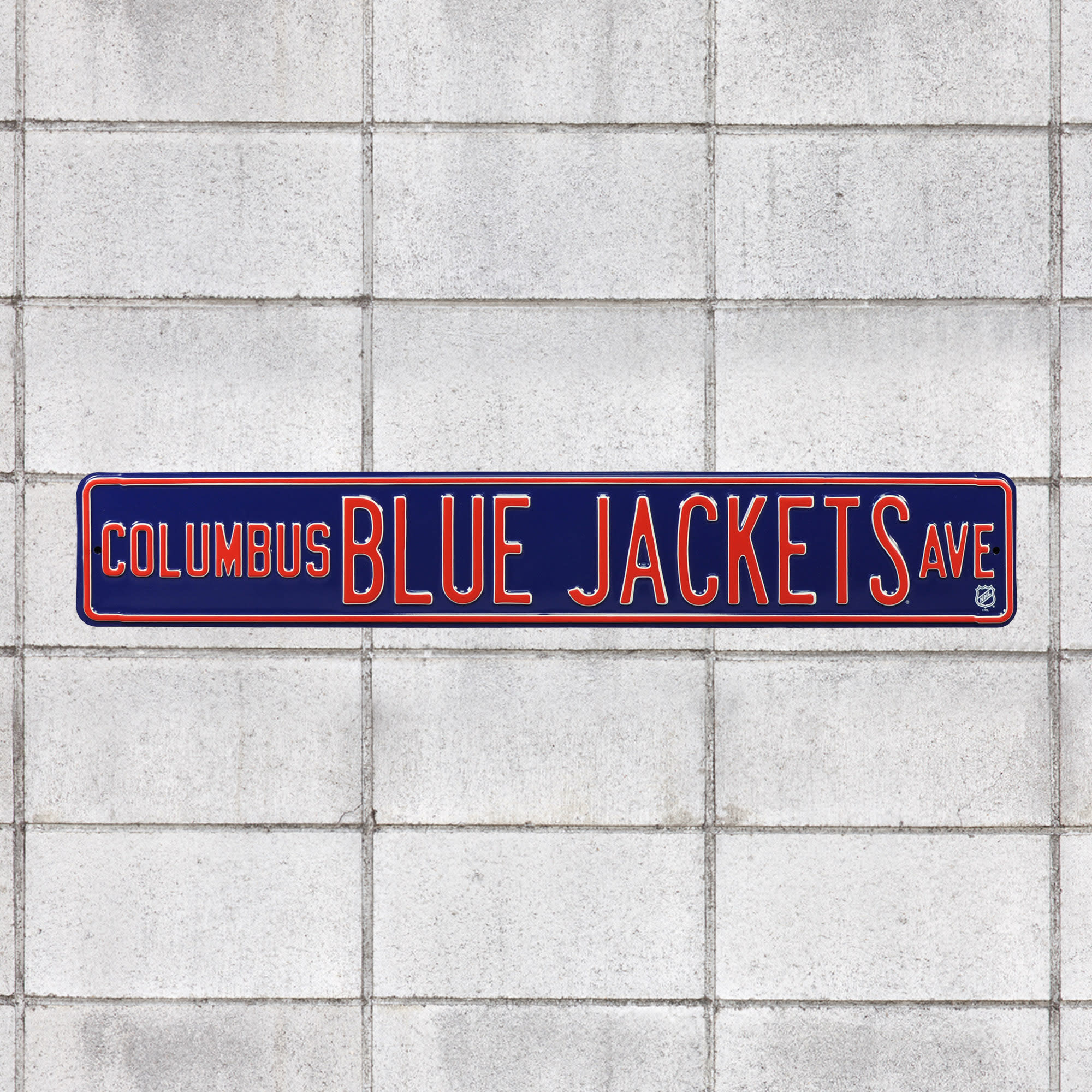 """Columbus Blue Jackets: Columbus Blue Jackets Avenue - Officially Licensed NHL Metal Street Sign 36.0""""W x 6.0""""H by Fathead   100%"""