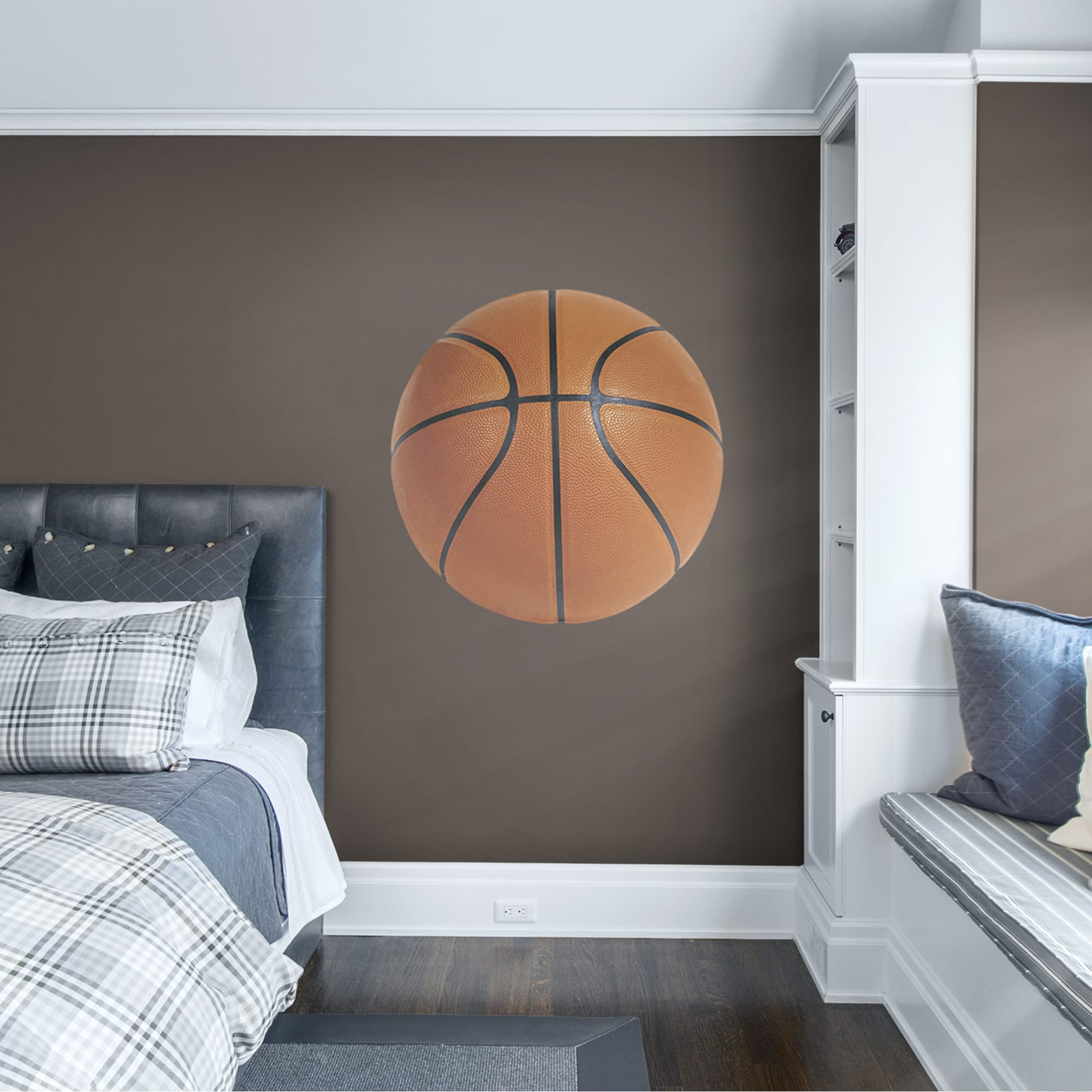 """Basketball: Assorted Graphics - Removable Vinyl Decal 38.0""""W x 38.0""""H by Fathead"""
