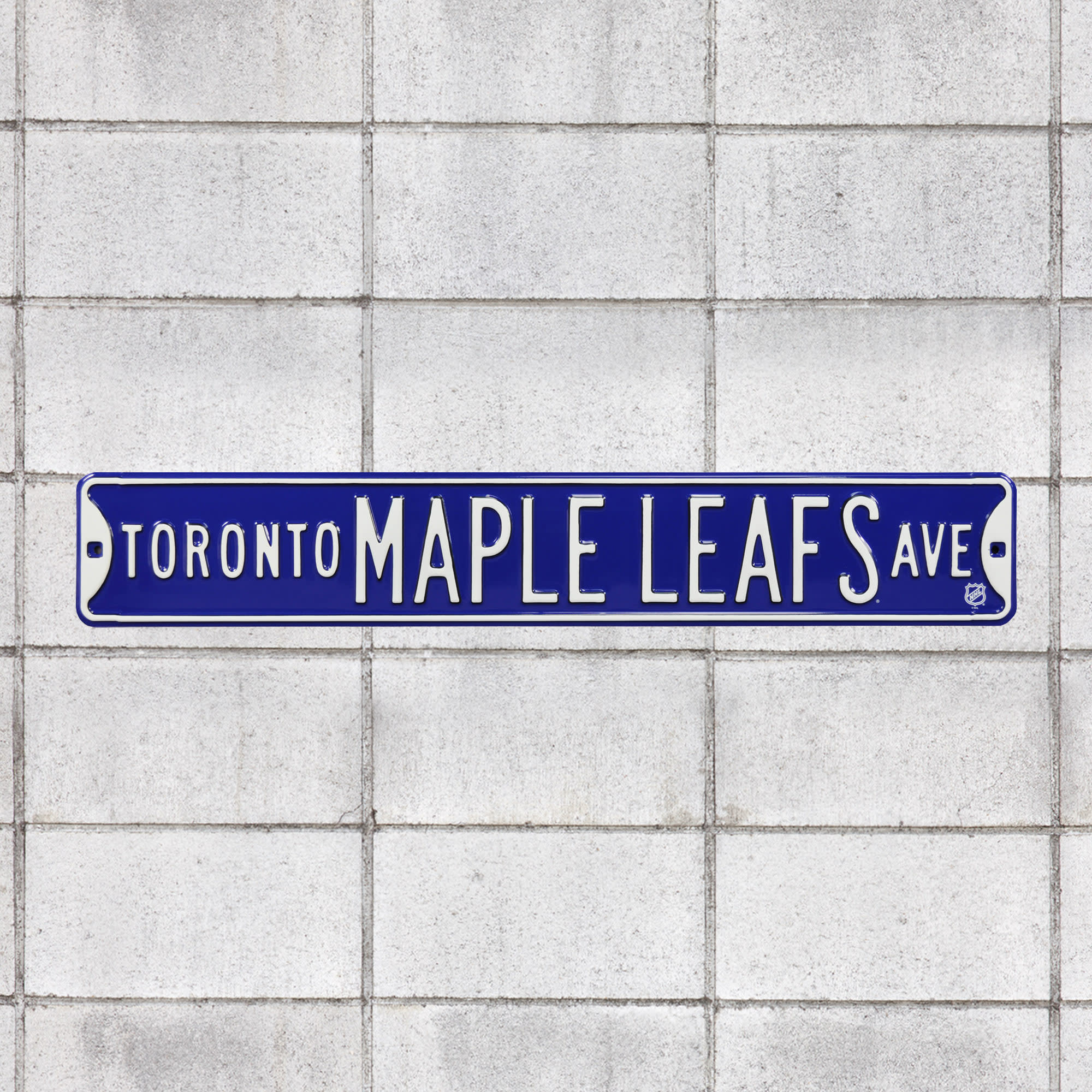 """Toronto Maple Leafs: Toronto Maple Leafs Avenue - Officially Licensed NHL Metal Street Sign 36.0""""W x 6.0""""H by Fathead 