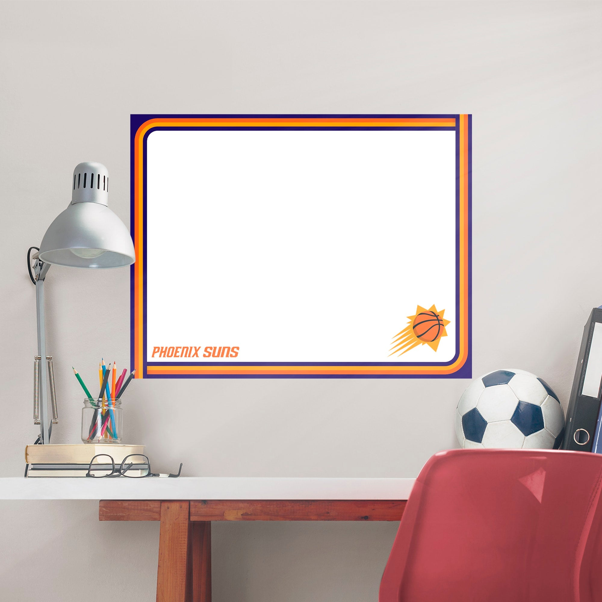 Phoenix Suns for Phoenix Suns: Dry Erase Whiteboard - Officially Licensed NBA Removable Wall Decal XL by Fathead   Vinyl