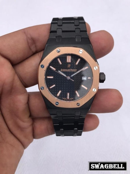 AUDEMARS PIGUET ROYAL OAK FULL BLACK SWISS AUTOMATIC WATCH