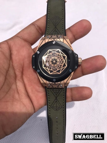 Hublot Big Bang Unico Sang Bleu Black Dial Swiss Automatic Watch