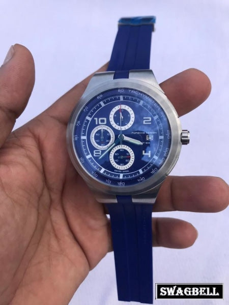 PORSCHE DESIGN FLAT SIX BLUE MEN'S WATCH