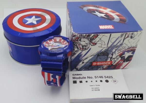 Casio Gshock Avengers Captain America Watch