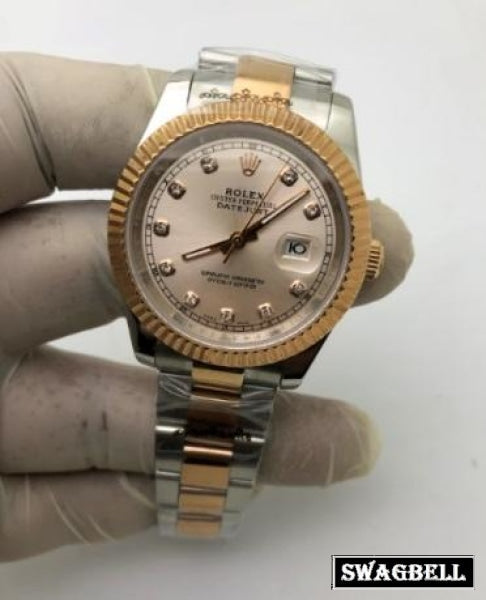 Rolex Date-Just White Dual Tone Swiss Automatic Watch