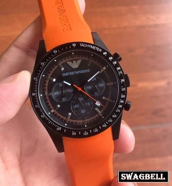 Armani Orange Strap Mens Watch