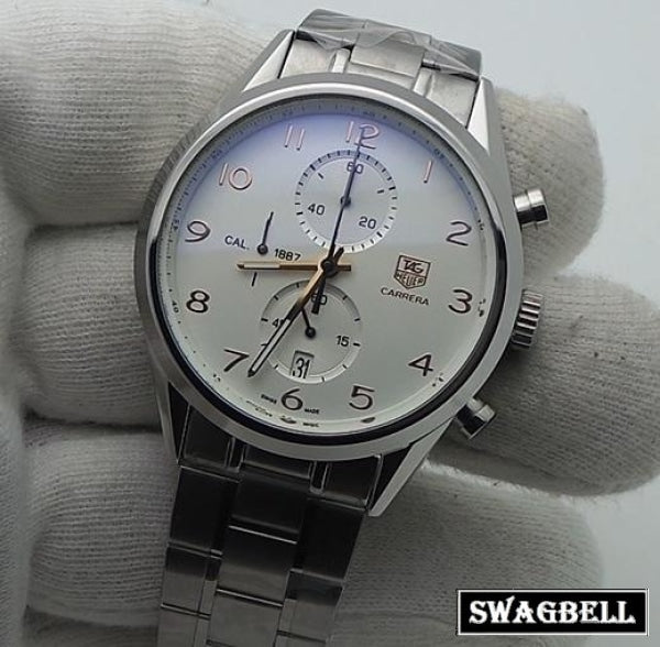 Tag Heuer Grand Carrera 1887 Steel White Watch