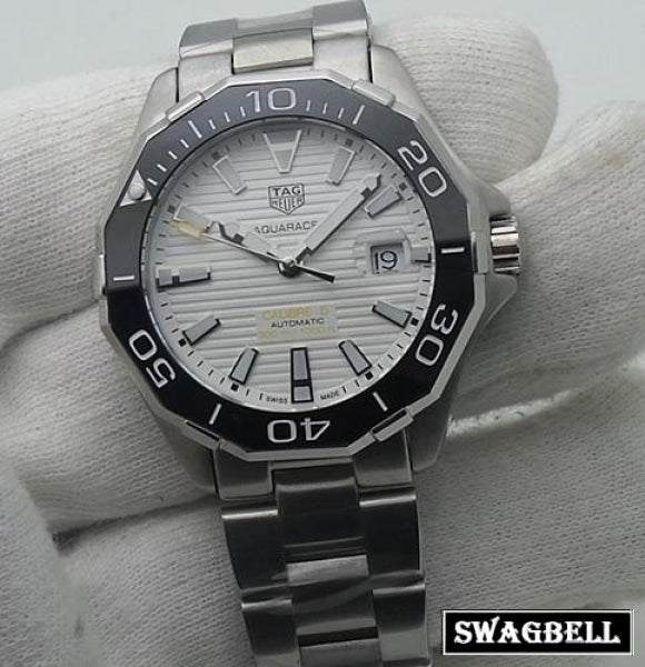 Tag Heuer Aquaracer Steel White Swiss Automatic Watch