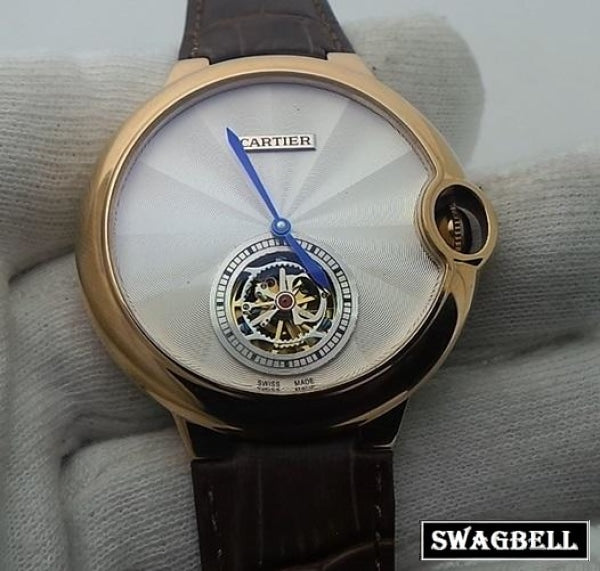 Cartier Ballon Bleu Tourbillon White Swiss Automatic Watch