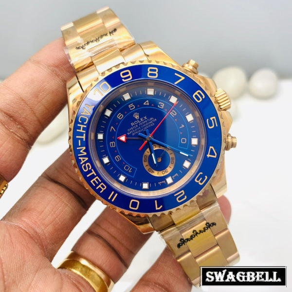 Rolex Yatch-Master Rose Gold Blue Swiss Automatic Watch