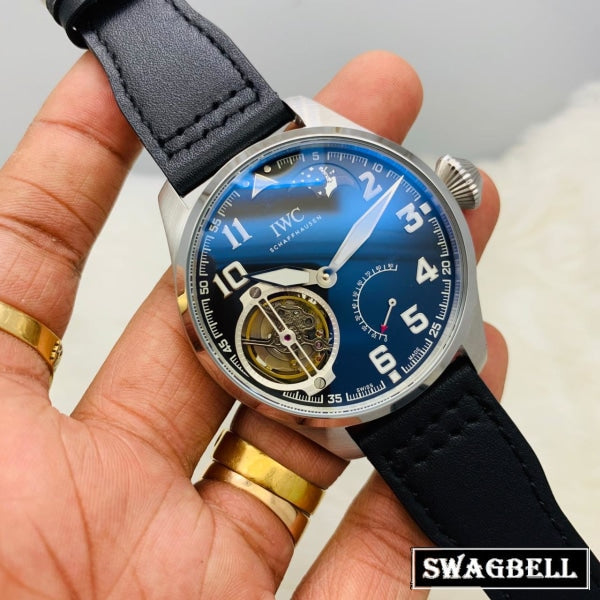 I W C Big Pilot Tourbillon Power Resrve Swiss Automatic Watch