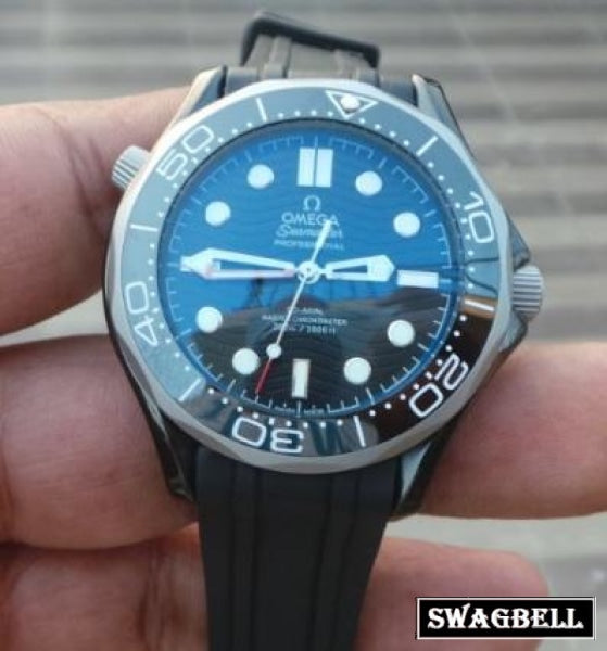 Omega Seamaster 50Th Anniversary Edition Rubber Strap Swiss Automatic Watch