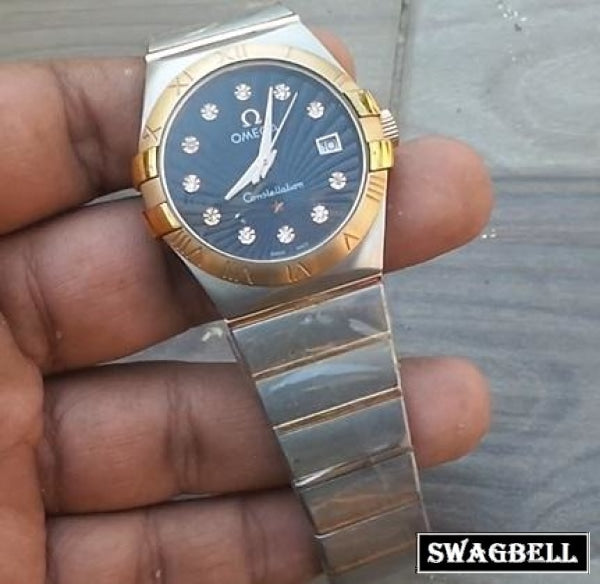 OMEGA CONSTELLATION BLACK MEN WATCH
