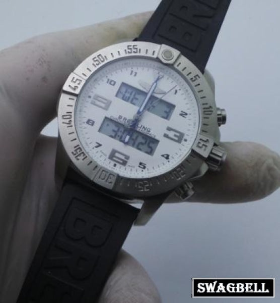 Breitling Exospace Steel Black Rubber Strap Watch