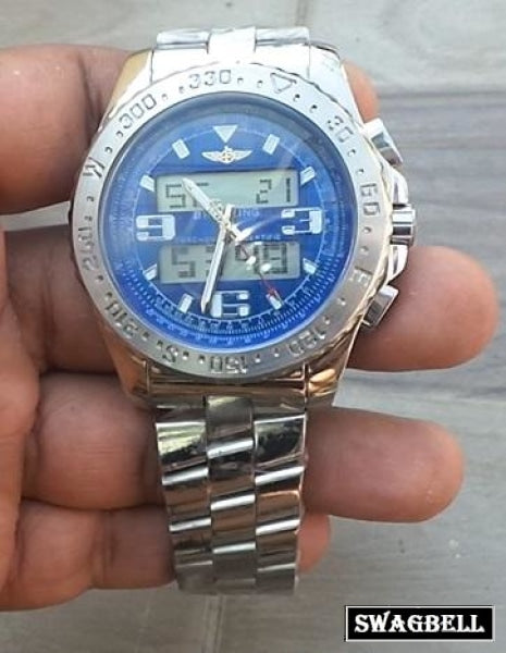Breitling Aerospace Steel Blue Men's Watch