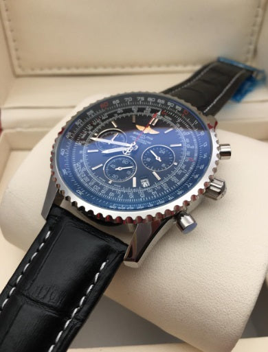 BREITLING NAVITIMER LIMITED EDITION LEATHER STRAP MEN'S WATCH