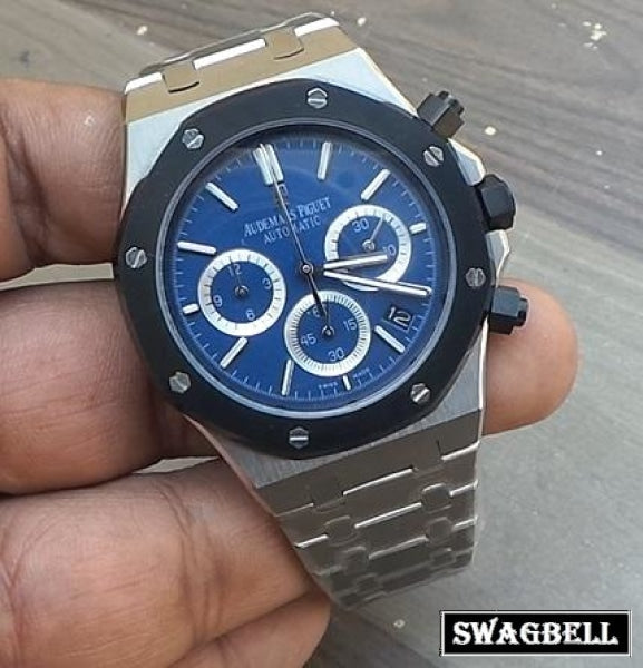 Audemars Piguet Royal Oak Blue Dial Ceramic Bazel Watch