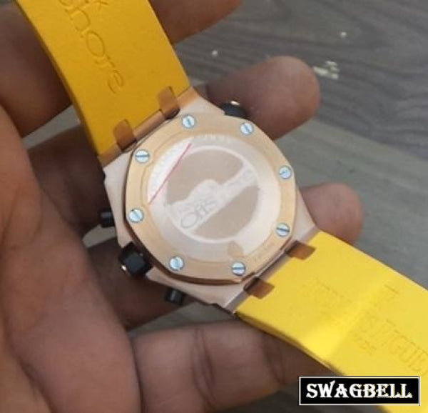 Audemars Piguet Diver Rose Gold Yellow Mens Watch